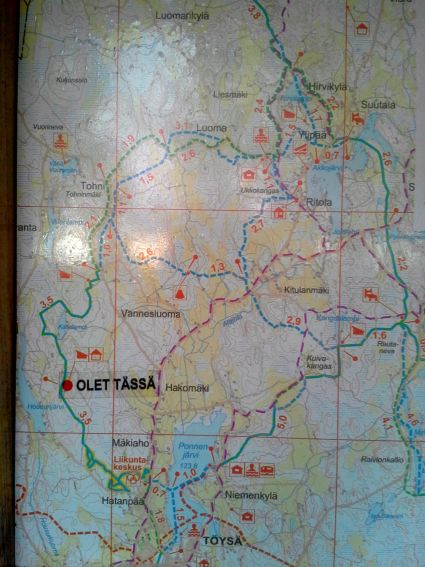 Blogiin Kartta kohteessa pienempi versio