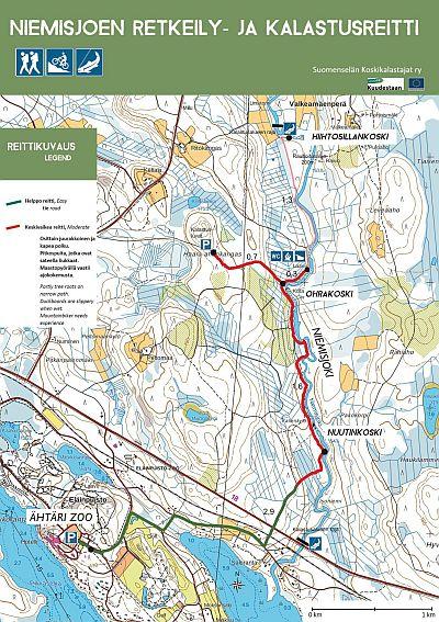 Retkeilyreittikartta Niemisjoki